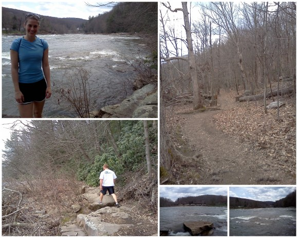 Hiking at Ohio Pyle 4-10-13