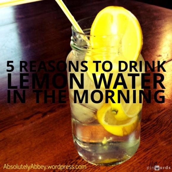 5reasonstodrinklemonwater