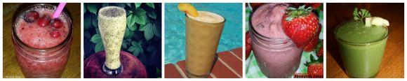 summer smoothie collage