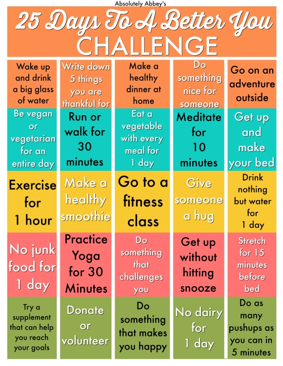 25 days to a better you challenge